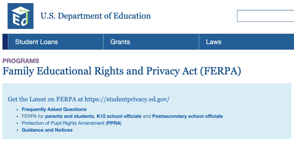 FERPA Website Page